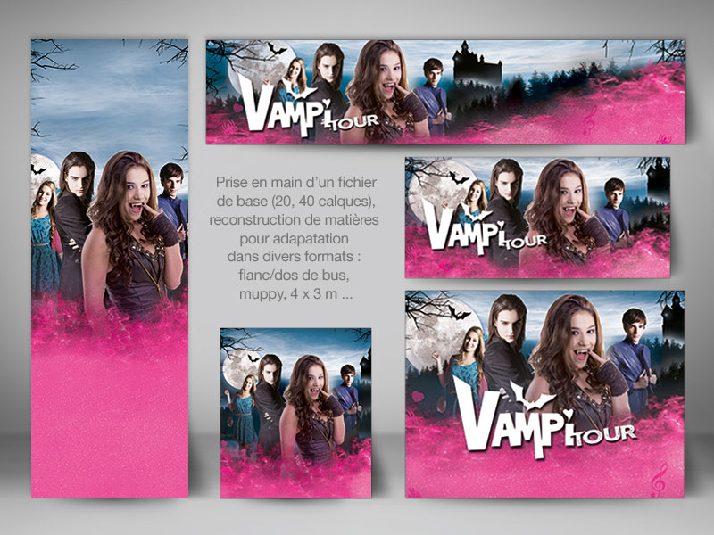 Spectacle Chica Vampiro, exemples d'affiches