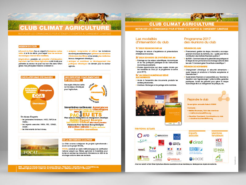 I4CE, plaquette R°V° Club-Climat-Agriculture